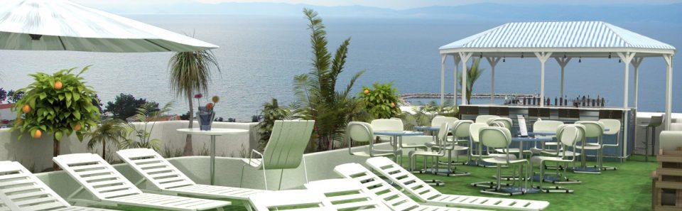 Εικονική άποψη από την ταράτσα ξενοδοχείου