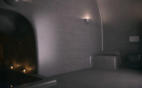 Μαύρη πατητη τουαλέτας ξενοδοχείου τρισδιάστατη παρουσίαση