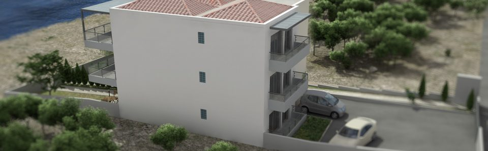 Πολυκατοικία με τριπλή σκεπή εικονικά