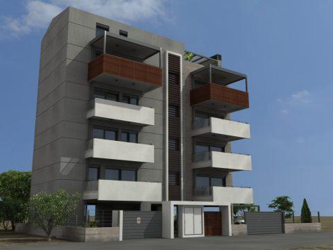 Πολυκατοικία μινιμαλιστικης αρχιτεκτονικης