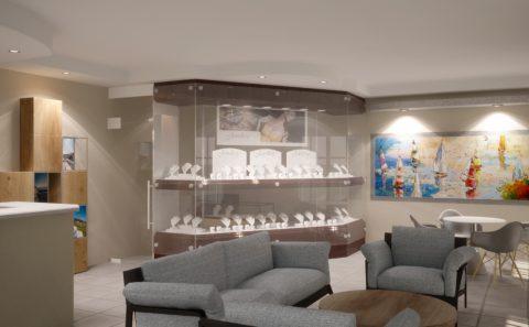 Εσωτερικό κατάστημα κοσμημάτων ξενοδοχείου φωτορεαλιστικο