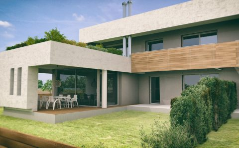 Μοντέρνα αρχιτεκτονικη 3d απεικόνιση