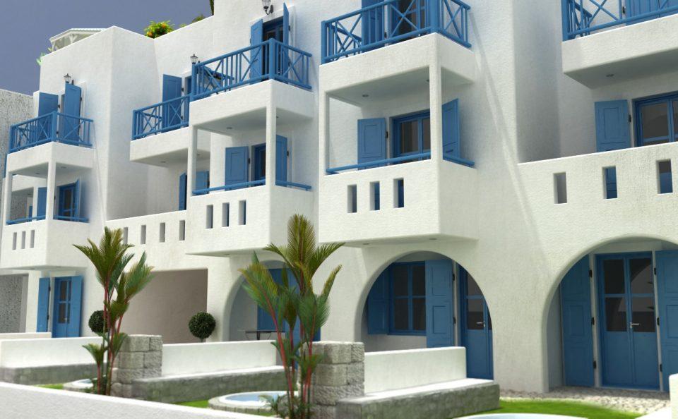 Εξωτερικά πριβε τζακούζι ξενοδοχείακης μονάδας Νάξου