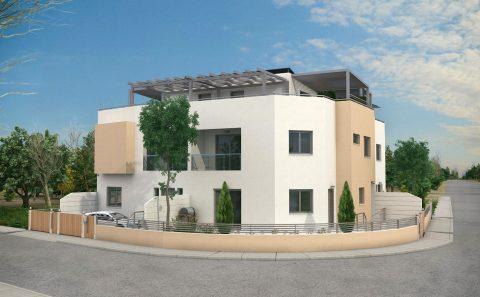 Τρισδιάστατη εικόνα διοροφης πολυκατοικίας στη Κύπρο