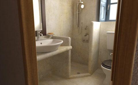 Τρισδιάστατη εικόνα πατιτο τουαλέτες νησιώτικου στιλ