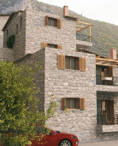 Φωτορεαλισμος πέτρινης κατοικίας