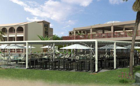 Καφετέρια ξενοδοχείο μελλοντική απεικόνιση