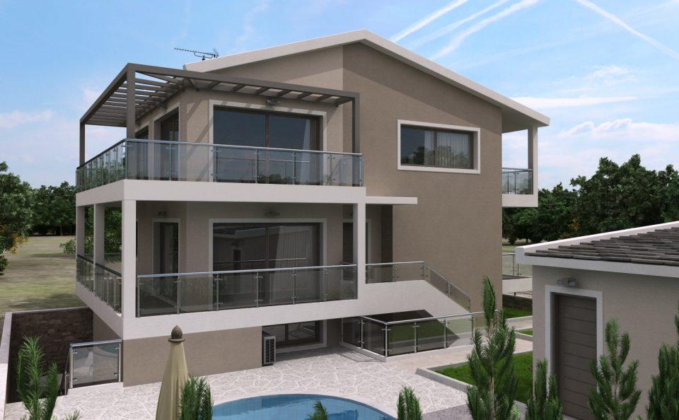 Εξοχική κατοικία με πισίνα 3d