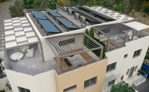 Διαμόρφωση σκεπής πολυκατοικίας στη Κύπρο
