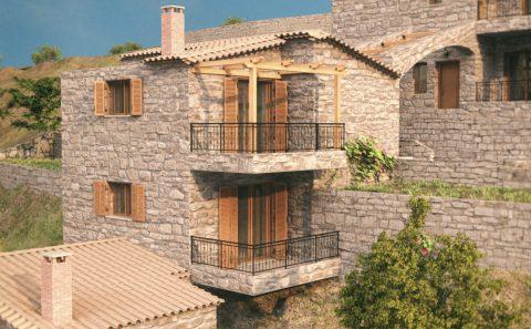 Παρουσίαση και ανάδειξη πέτρινων κατοικιών μέσω τρισδιάστατου σχεδίου
