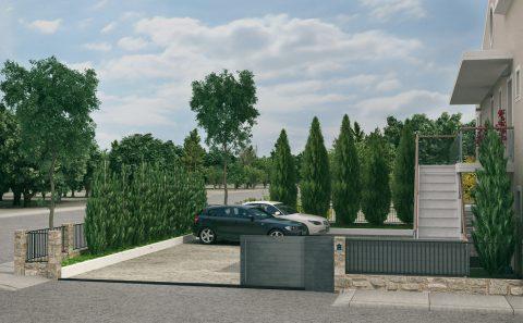 Είσοδος στο ιδιόκτητο πάρκινγκ τρισδιάστατο