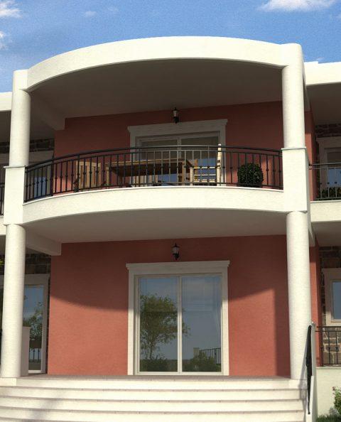 Υμικυκλική βεράντα πολυτελούς κατοικίας