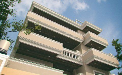 Μπαλκόνια πολυκατοικίας φωτορεαλιστικο