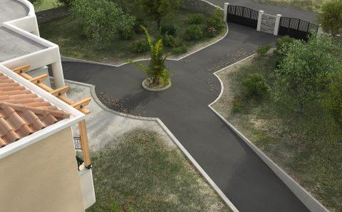 Διαμόρφωση δρόμου στο οικόπεδο