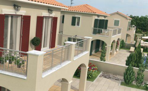 Σπίτια Κεφαλλονιάς τρισδιάστατη εικόνα για προσέλκυση επενδυτών
