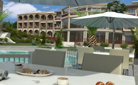Ξενοδοχειακό εστιατόριο τρισδιάστατη απεικόνιση