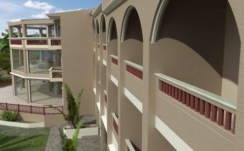 Δωμάτια ξενοδοχείων εξωτερικά φωτορεαλιστική απόδοση