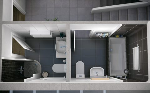 Διαμόρφωση τουαλέτας μελέτη πριν την κατασκευή