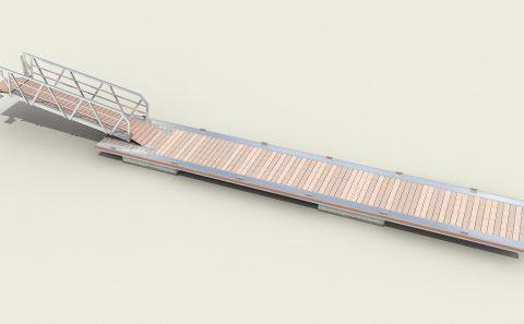 Τρισδιάστατο σχέδιο μοντέλο πλωτής εξέδρας