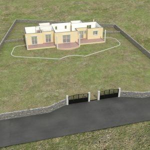 Παράδειγμα σταδιακής σχεδίασης δομή πρώτου ορόφου και όρια οικοπέδου