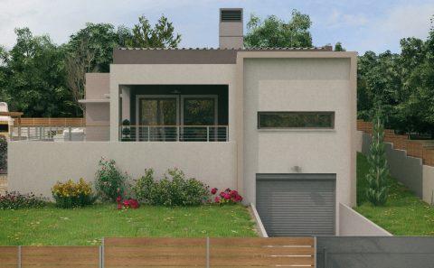 Υπόγειο γκαράζ κατοικίας τρισδιάστατο σχέδιο