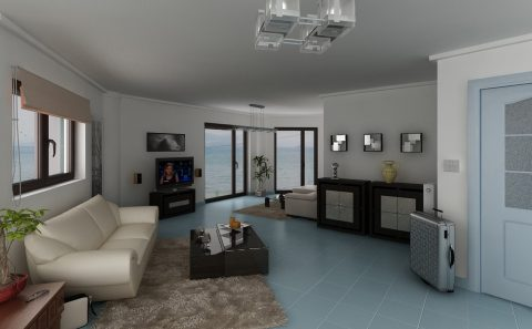 Εσωτερικό κατοικίας σχέδιο βάση περιγραφής και φωτογραφίας
