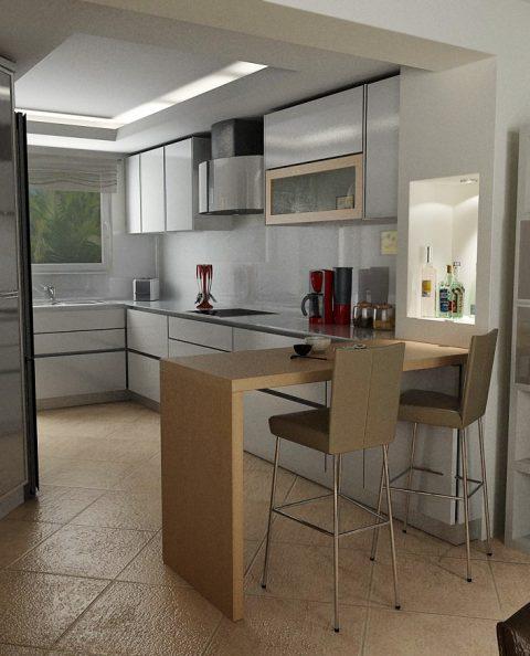 Τρισδιάστατη κουζίνα στο χώρο ανάδειξη για επιλογή