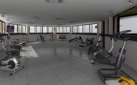 Αίθουσα γυμναστικής 3d εναλλακτική πρόταση
