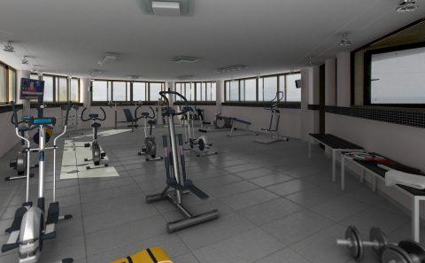 Αίθουσα γυμναστικής 3d αναπαράσταση