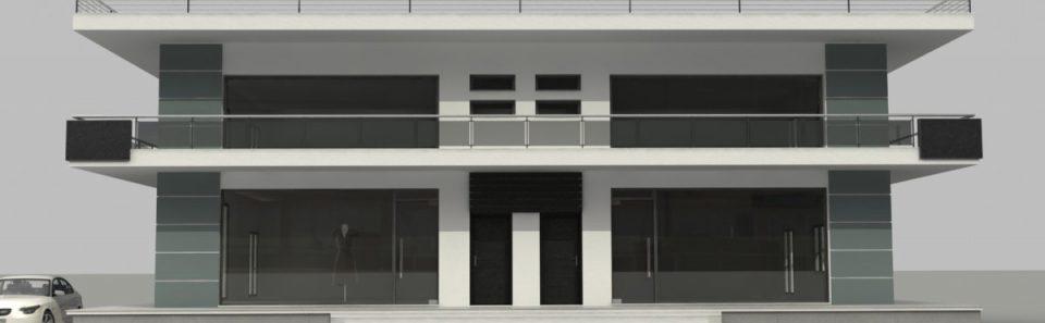 Τρισδιάστατη πρόσοψη ισόγειο καταστημάτων