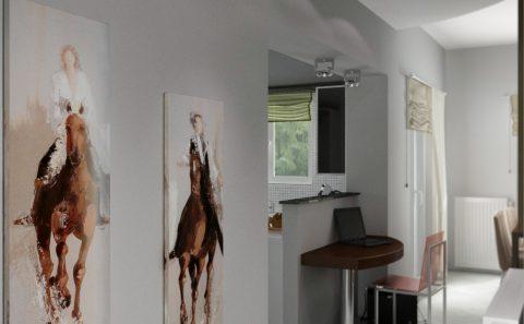 Διάδρομος πίνακες τοίχου εικονική παρουσίαση