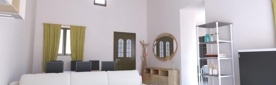 Ψιλό ξύλινο ταβάνι δυριχτης σκεπής