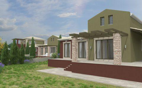 Τρισδιάστατες κατοικίες με πετροκτιστα στοιχεία και έντονους χρωματισμούς