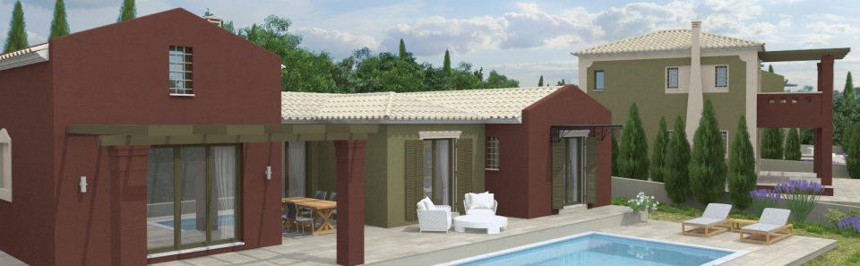 Κατοικία με πισίνα στη Κεφαλλονιά τρισδιάστατο