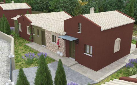 Παραδοσιακή αρχιτεκτονικη κατοικίας 3d