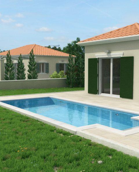Φωτορεαλισμος κλασικής πισίνας