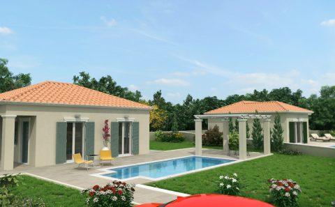 Κεφαλλονιτικα σπίτια με πισίνες και οικοπέδου
