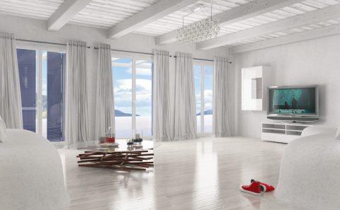 Λευκό σαλόνι φωτορεαλισμος