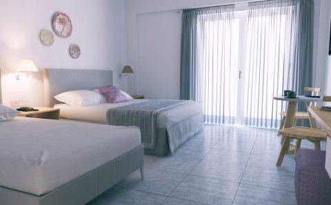 Διακόσμηση μεγάλου ξενοδοχειακου δωματίου φωτορεαλιστικο