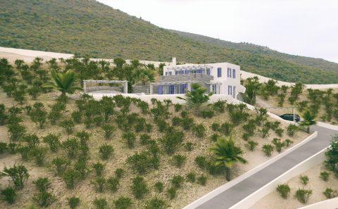 Τρισδιάστατη απεικόνιση οικοπέδου και κτίσματος