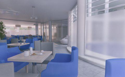 Καφετέρια ξενοδοχείου μελέτη μελλοντικής διαμόρφωσης