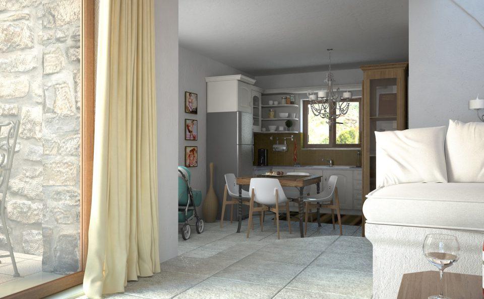 Εσωτερικός φωτορεαλισμος παραδοσιακής κατοικίας