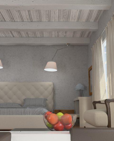 Εσωτερικό σουίτας ξενοδοχείου στη Κάλυμνο φωτορεαλισμος