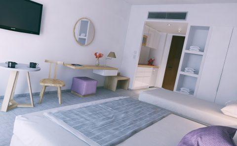 Τρισδιάστατη αναπαράσταση ξενοδοχειακου δωματίου