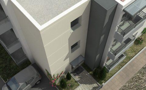 Κλιμακοστασιο είσοδος πολυκατοικίας 3d σχέδιο