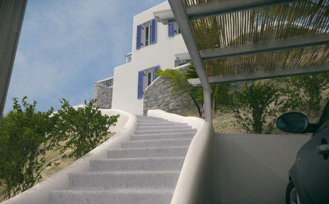 Σκαλιά προς την κατοικία μελλοντική μελέτη
