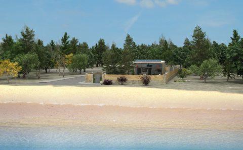 Τρισδιάστατη απόδοση οικοπέδου με κατοικία στη παραλία