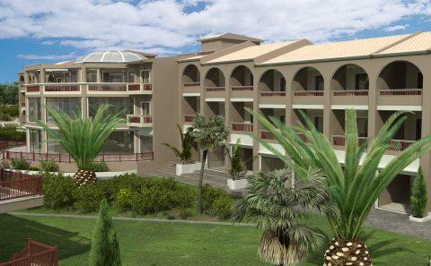 Προοπτικο ξενοδοχείο φωτορεαλιστική απεικόνιση