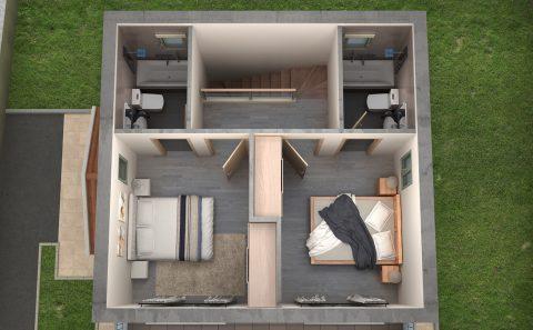 Κατοικία χωρίς σκεπή ανάδειξη εσωτερικού