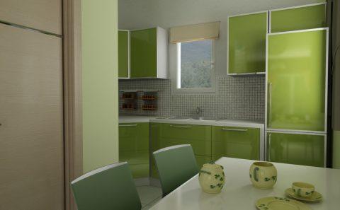 Λαχανη λαιμ κουζίνα δοκιμαστικό χρώμα